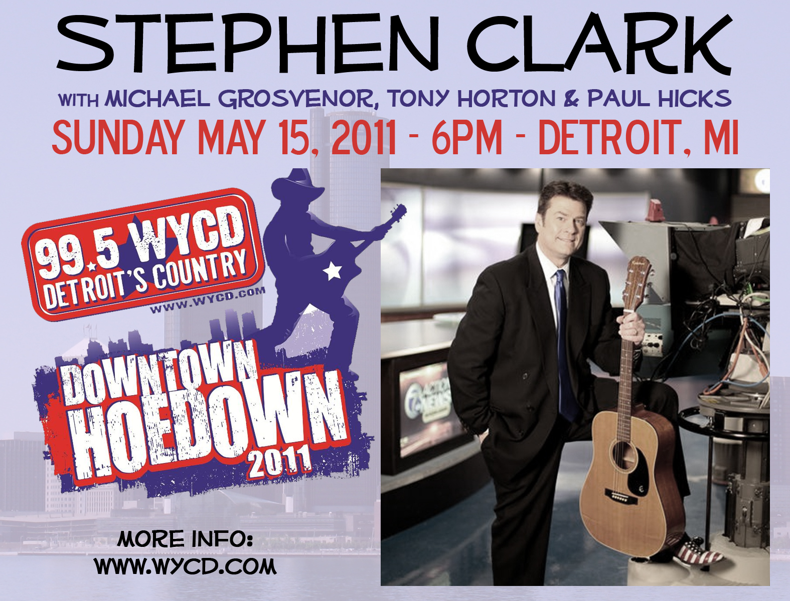 Playing @ Downtown Hoedown May 15 w/ Stephen...